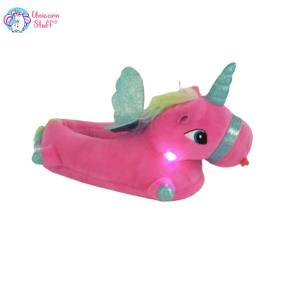 led light up unicorn slippers