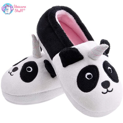 panda unicorn slippers