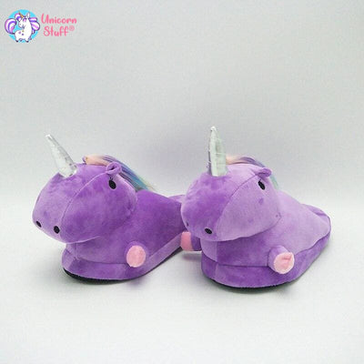 purple unicorn slippers