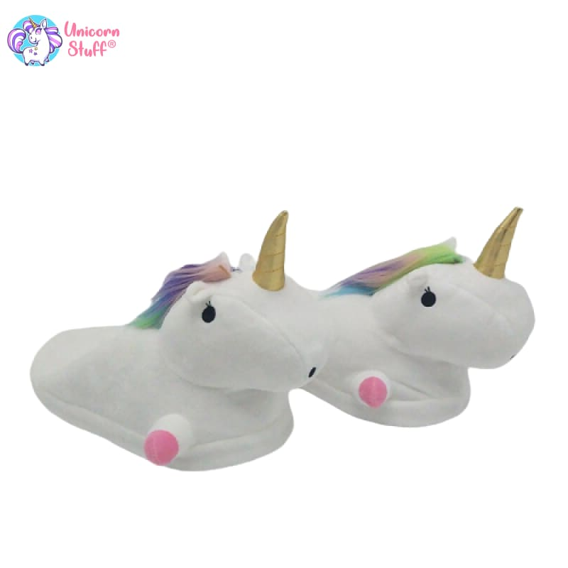 slip on unicorn slippers