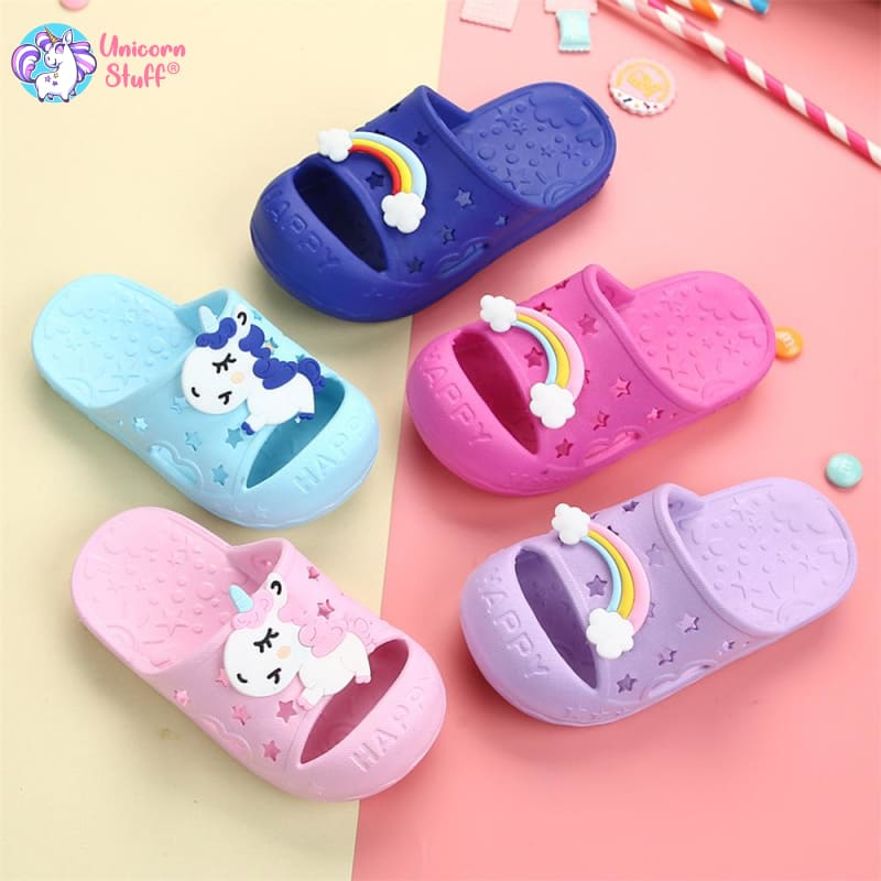 Toddler Girl Unicorn Slippers