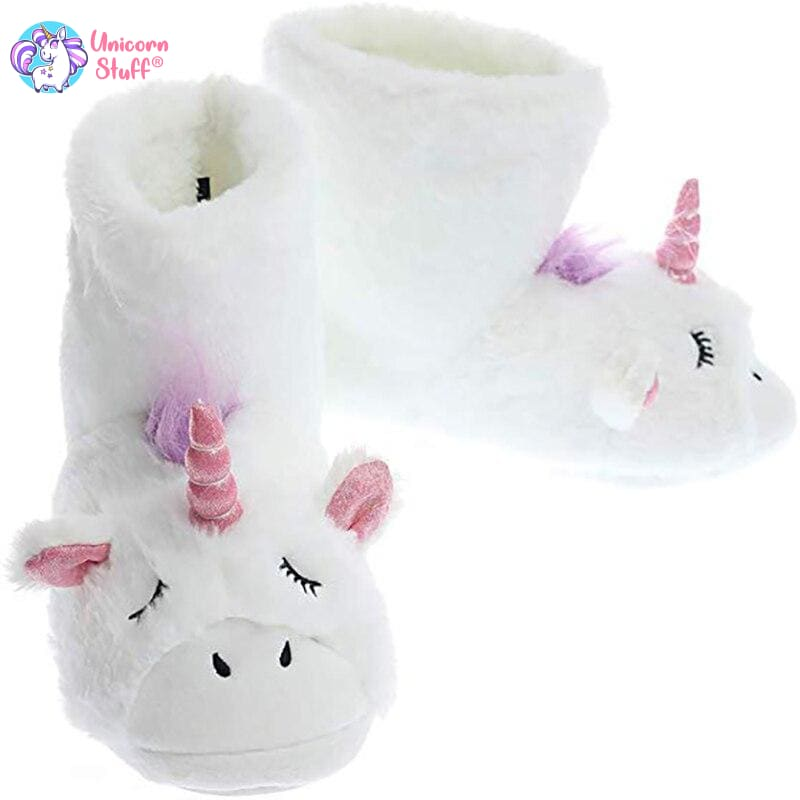 unicorn boot slippers adults