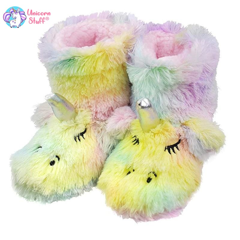 unicorn bootie slippers
