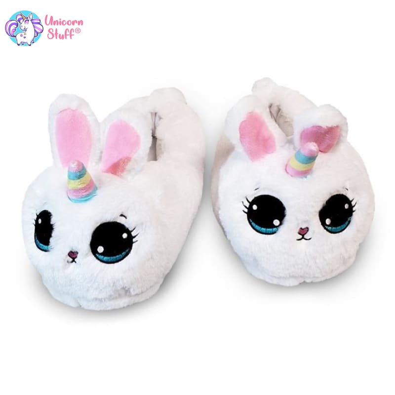 unicorn bunny slippers