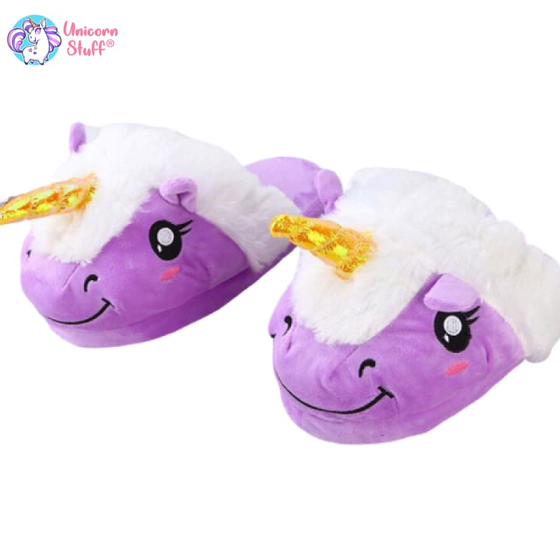 unicorn feet slippers