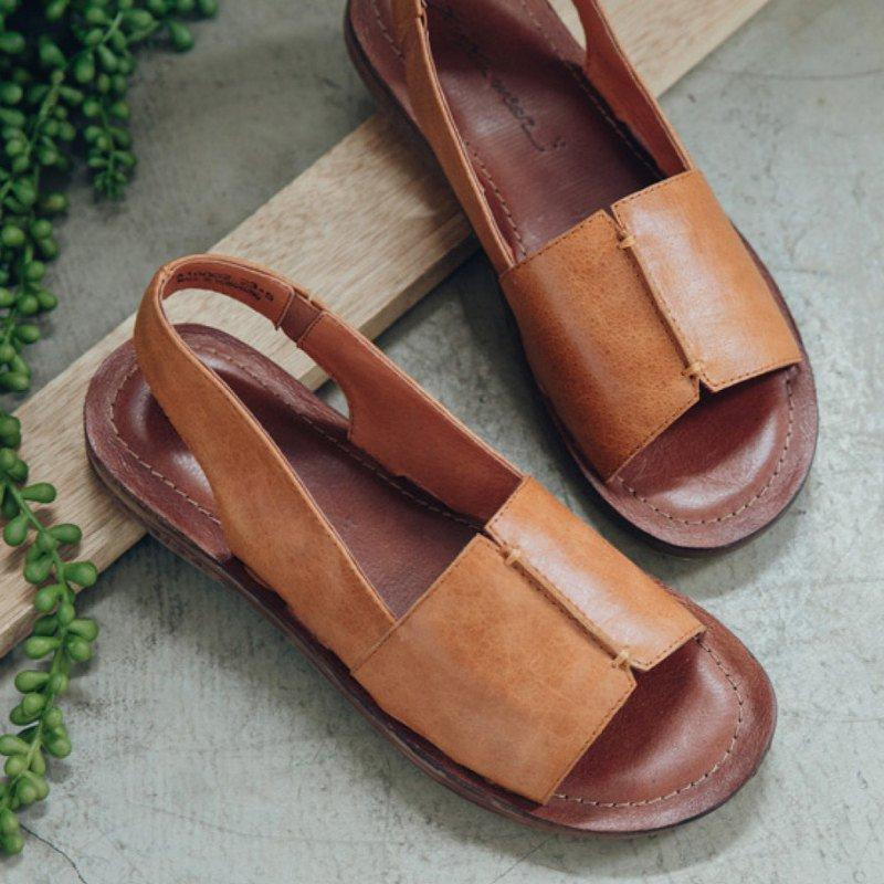 Women Genuine Leather Slip-on Soft Casual Sandals