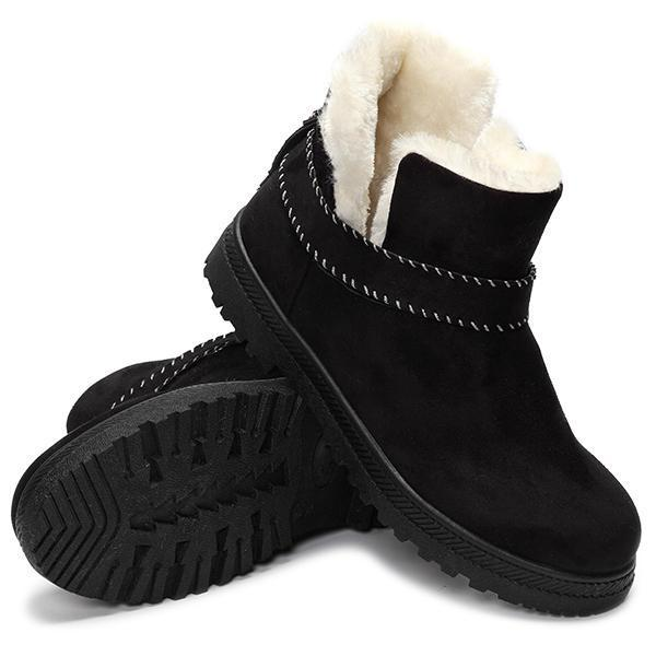 🔥 50% OFF 🔥Fur Lining Snow Ankle Short Boots