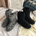 Black Friday Promotion 50% Off-2019 winter tube woven wool boots