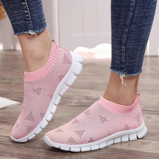 Women Spring Summer Knitting Casual Breathable Sneakers