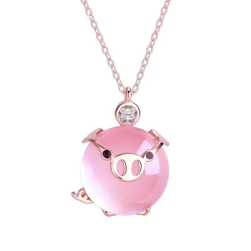 888f262c44f08 ROSE GOLD LUCKY PIG NECKLACE