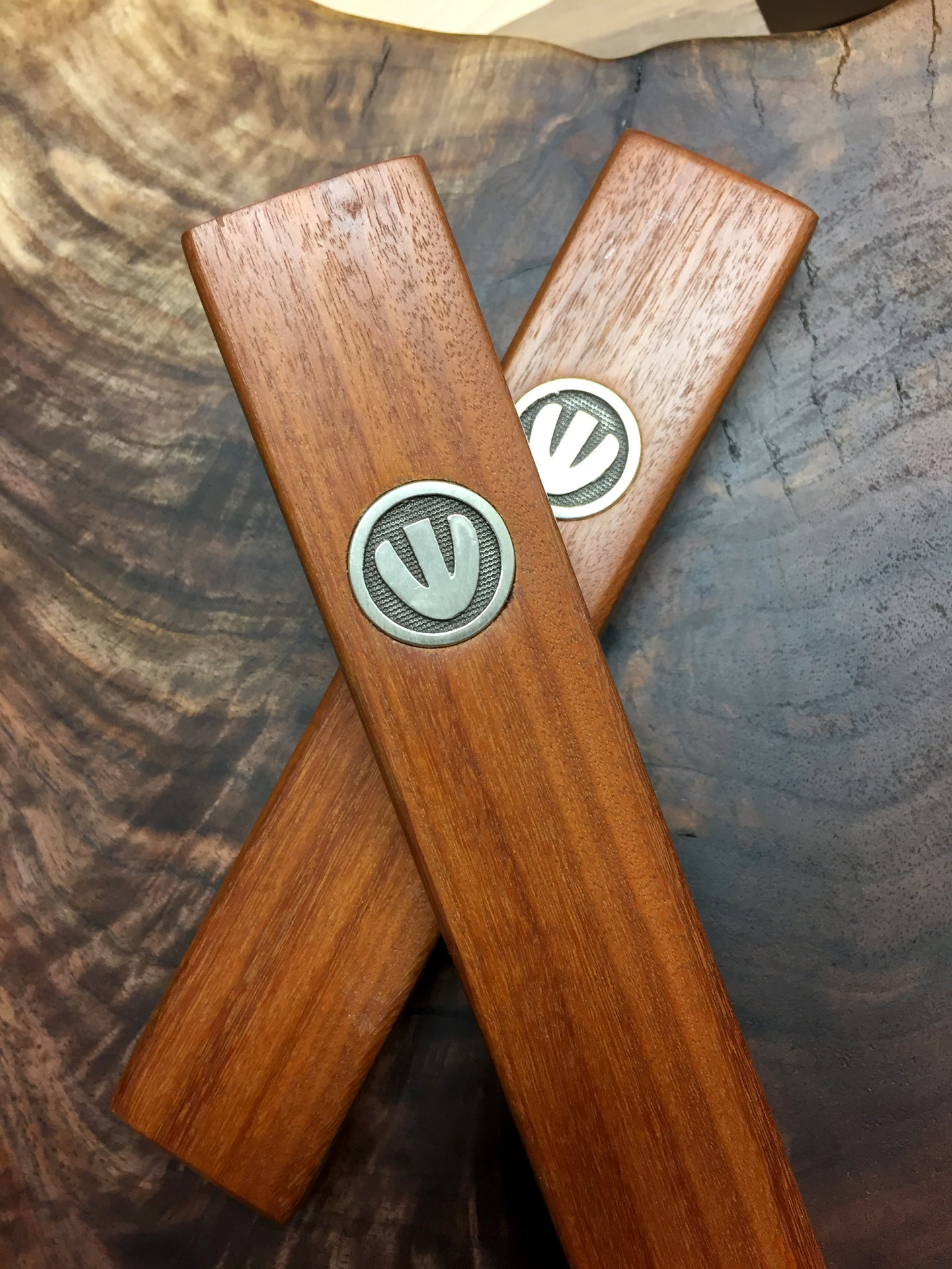 Ipe Wood & Sterling Silver Mezuzah