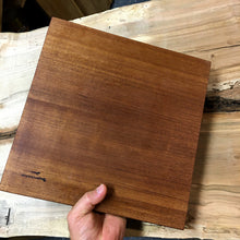 Load image into Gallery viewer, Geo design Wooden Cutting Board (Sapele and resin)