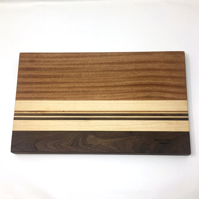 Striped Wooden Cutting Board, Made to Order