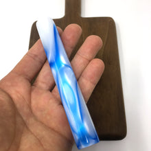 Load image into Gallery viewer, Blue and White Swirl Mezuzah Case (Acrylic)