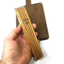 Load image into Gallery viewer, Mezuzah Case (zebrawood)