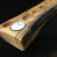 Load image into Gallery viewer, Hanukkah Menorah (Spalted Maple )