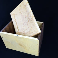 Load image into Gallery viewer, Etrog Box (Walnut and Maple)
