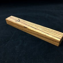 Load image into Gallery viewer, Mezuzah Case (zebrawood, laminated)