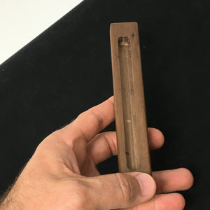 Wooden Mezuzah Case (Walnut with raised Shin)