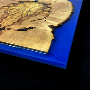 Display Board/ Platter (Maple Burl and Resin)
