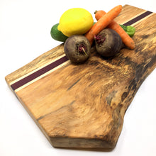 Load image into Gallery viewer, Sycamore slab cutting board with live edge