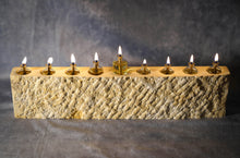 Load image into Gallery viewer, Hanukkah Menorah (Jerusalem Stone, limited addition)