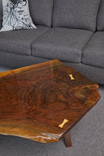 Load image into Gallery viewer, Coffee Table - black walnut, Live-Edge, waterfall