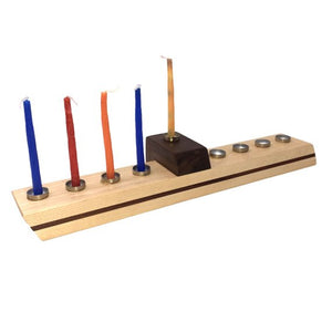 Handmade Maple Wood Hanukkah Menorah