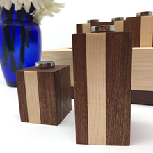 Load image into Gallery viewer, Handmade Sapele and Maple Menorah