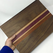 Load image into Gallery viewer, Accent Striped Wooden Cutting Board