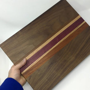 Accent Striped Wooden Cutting Board