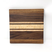 Load image into Gallery viewer, Thick Striped Square Wooden Cutting Board