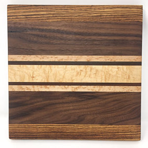 Thick Striped Square Wooden Cutting Board