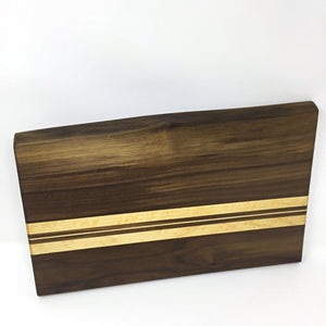 Thin Striped Wooden Cutting Board