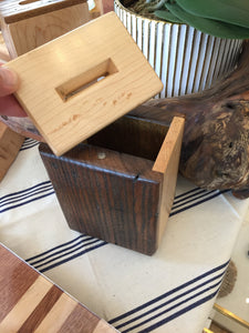 Tzedaka Box (Maple & Wormy Chestnut)
