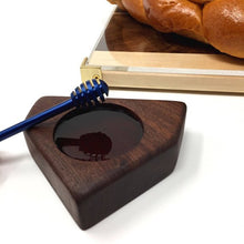 Load image into Gallery viewer, Honey Dish and Honey dipper #1 (Black Walnut)