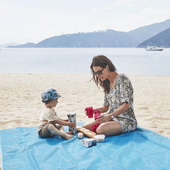60% OFF- Sand Free Beach Mat(Waterproof, Ultra Portable for Beach, Picnic, Camping, Outdoor Events)
