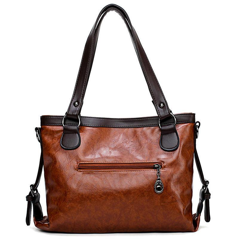 Large Capacity Genuine Leather Shoulder Bag