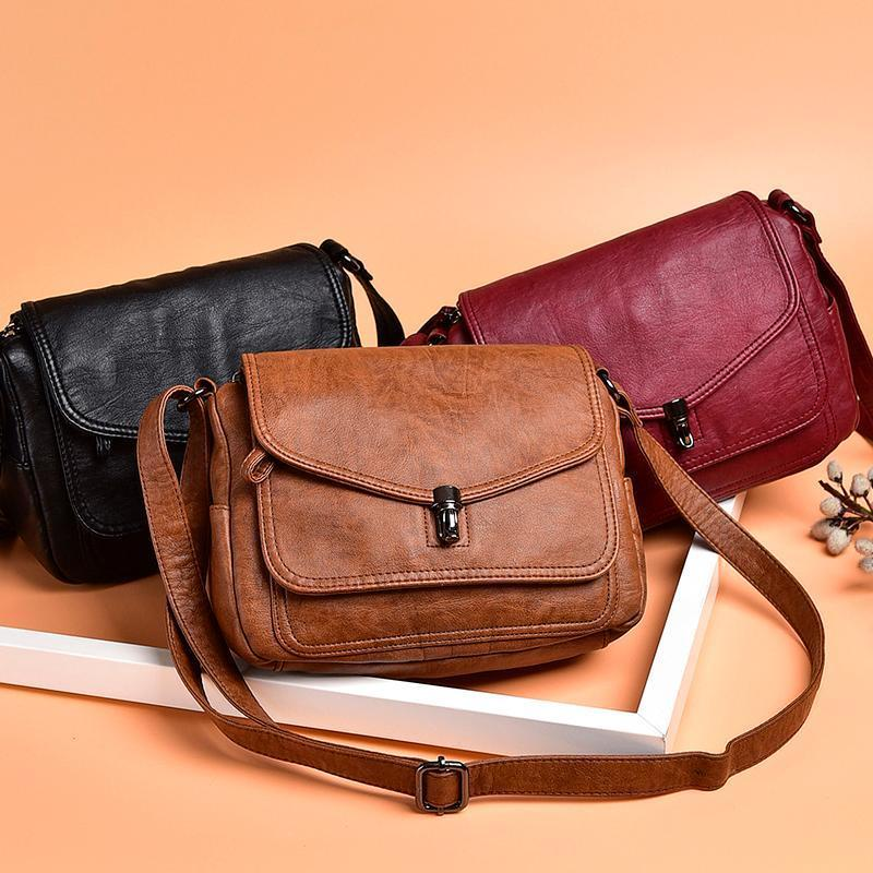 Genuine Leather Women Cross-body Bag