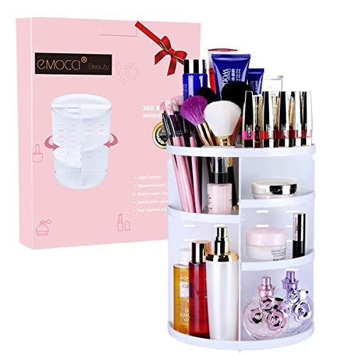 Desktop Rotating Cosmetics Storage Rack Plastic Storage Shelf Dressing Table