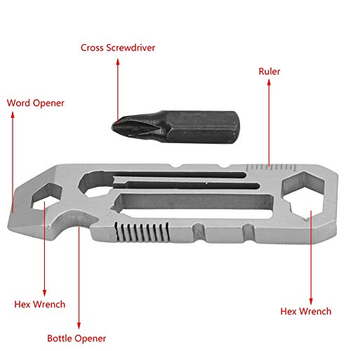 6 in 1 Multifunctional Stainless Steel Bottle Opener Hex Wrench Multi Tool EDC Equipment BUY TWO GET ONE FREE