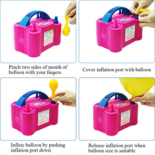 Portable Dual Nozzle 600W Electric Balloon Blower Pump