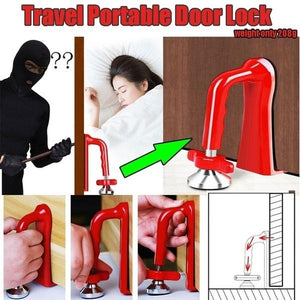"""Be Safe"" Door Jammer Portable Door Security Device Lockdown Portable Door Lock Brace for Home Security and Personal Protection"
