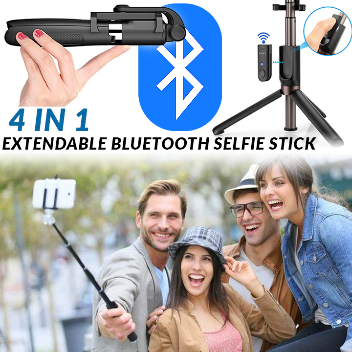 4 in 1 Extendable Bluetooth Selfie Stick