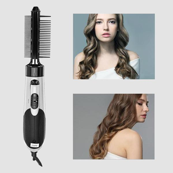 7 in 1 Ceramic Hair Dryer Rotating Curling Iron Brush 50% OFF