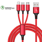 3 in 1  Usb Cable  Charging Charger Micro USB Cable USB Type-c Cable - BUY TWO 5% OFF and Free Shipping