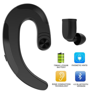 Bone Conduction Wireless Headphones One Ear