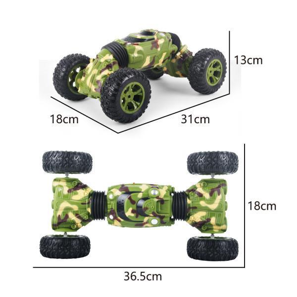 Double Side 2.4GHz One Key Deformation Climbing Car Remote Control