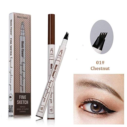 Eyebrow Pencil with Four Tips Eyes Makeup