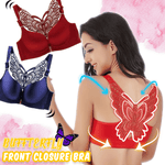 Butterfly Wireless Front Closure Functional Push Up Bra